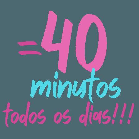 40 horas perdidas durante o mês